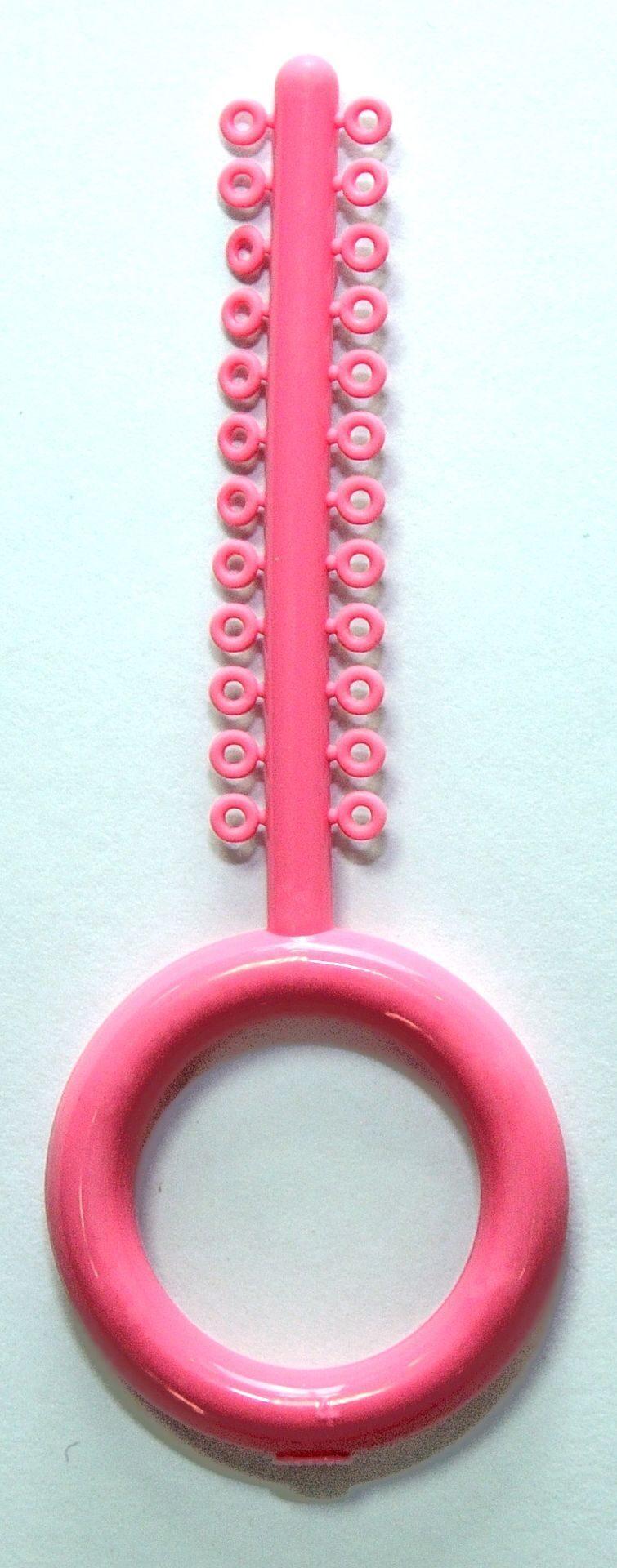 Лигатура эластичная розовая (24 кольца) ОТ