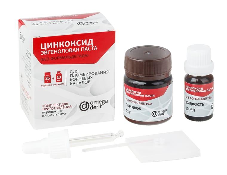 Цинкоксид эвгенол паста б/формальд 25г+10мл Омега