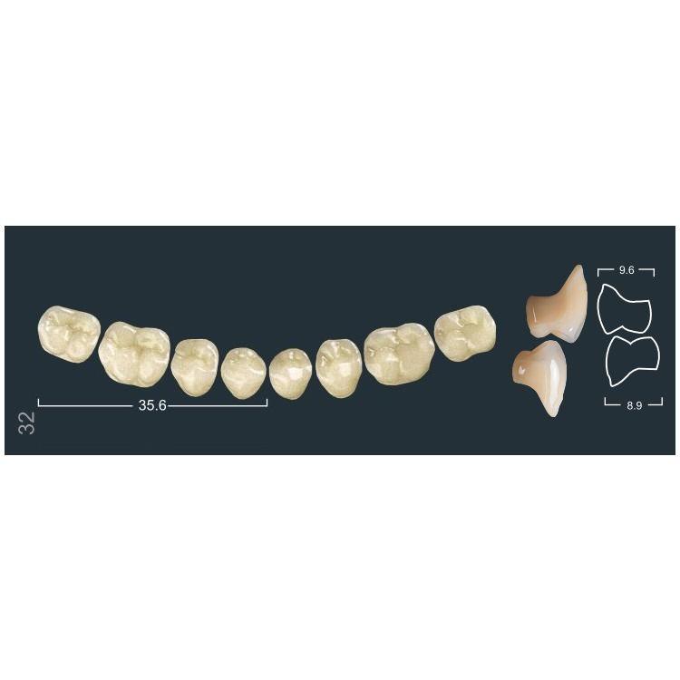 Зубы боковые н/ч 320/32М Ивокляр