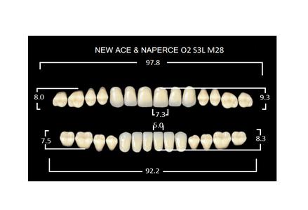"Зубы""GLORIA NEW ACE""фасон O2, цвет А1 (28 шт)"