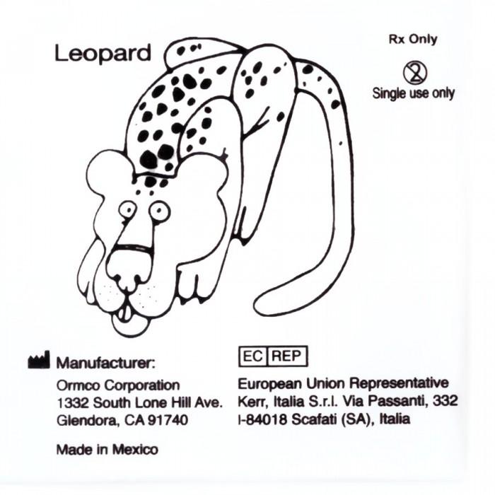 Эластичное кольцо 1/4 Леопард (100шт) Ормко