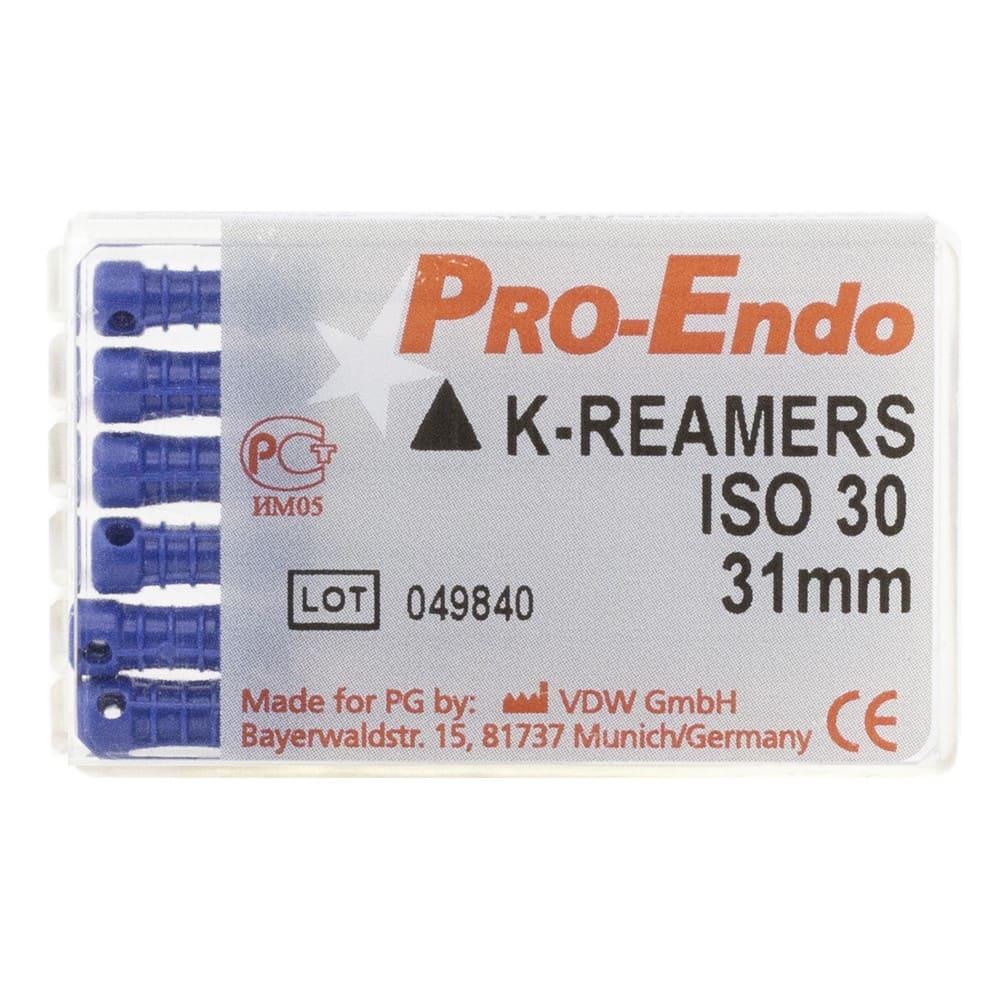 К-файл Pro-Endo ручные 030 31мм,6 шт.