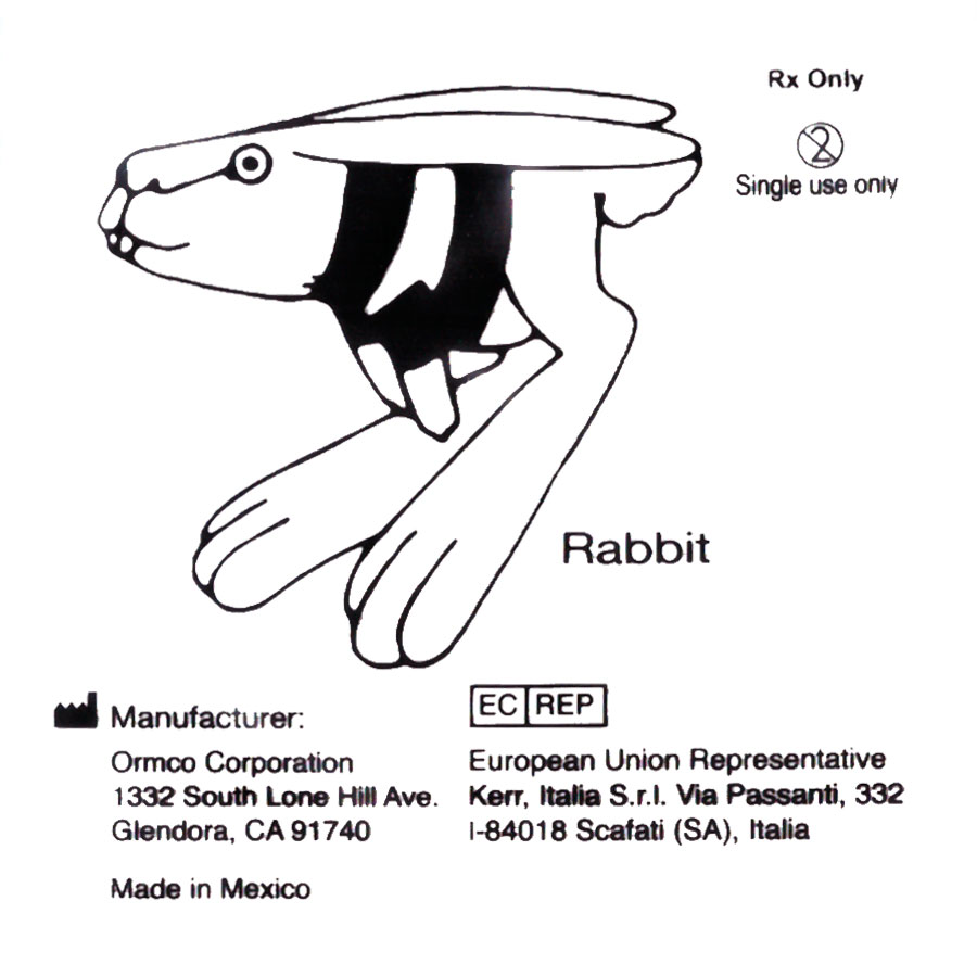 Эластичное кольцо 3/16 Кролик (100шт) Ормко