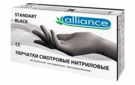 Перчатки Alliance нитриловые L Черные