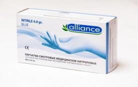 Перчатки Alliance нитриловые L