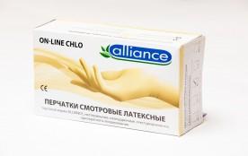Перчатки Alliance латексные L