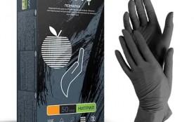 Перчатки Benovy нитриловые L черные
