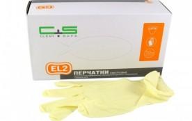 Перчатки CLEAN+SAFE латексные L (EL2)