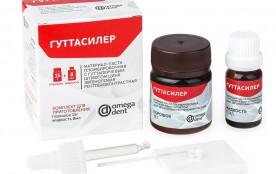 Гуттасилер -цинк эвгеноловая рентгеноконтрастная паста для пломбирования  каналов 15г+8мл (Омега)