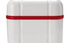 Курапрокс контейнер д/хранения зубн. протезов, красный, Швейцария