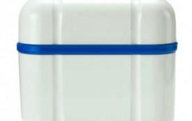 Курапрокс контейнер д/хранения зубн. протезов, синий, Швейцария
