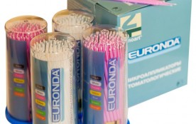 Микроаппликаторы Euronda Fine желтый/синий, уп-100шт.